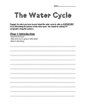 The Water Cycle Writing Prompt