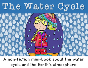 Water Cycle Minibook- including atmosphere, runoff /collec