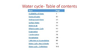 The Water cycle - Preview