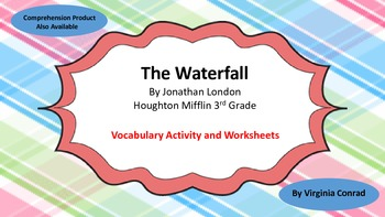 The Waterfall--Vocabulary Activity & Worksheets--Grade 3