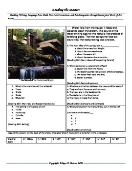 "Intervention & Test Prep with ""The Waterfall"" by Frank Lloyd Wright"