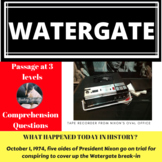 The Watergate Scandal Differentiated Reading Passage October 1