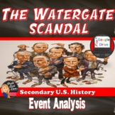 Nixon - The Watergate Scandal Political Cartoon Analysis Activity (U.S. History)