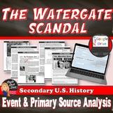 Nixon - The Watergate Scandal Political Cartoon Analysis Activity (U.S. History)