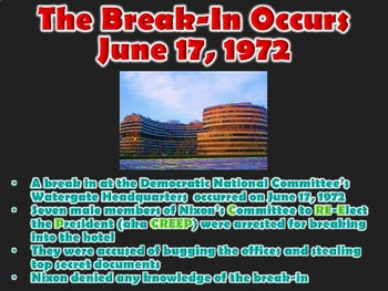 Watergate Scandal Prelude to Impeachment PowerPoint