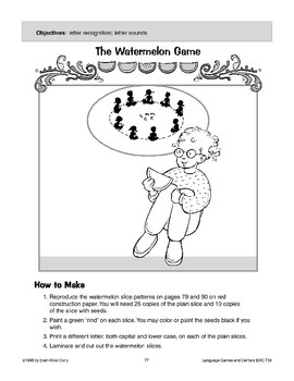 The Watermelon Game (letter recognition/sounds)
