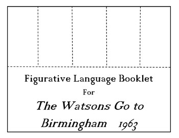 The Watsons Go To Birmingham 1963 CHOICE BOARD BUNDLE 13 Activity Pages