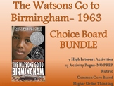 The Watsons Go To Birmingham 1963 CHOICE BOARD BUNDLE 13 A