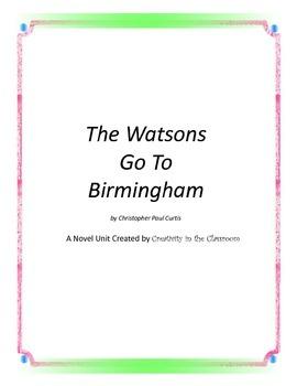 The Watsons Go To Birmingham--1963 Novel Unit Plus Grammar