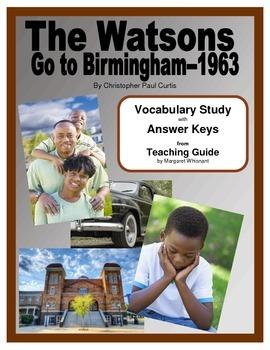 The Watsons Go to Birmingham 1963--Vocabulary Study