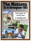 Watsons Go To Birmingham 1963     Whole Book Test