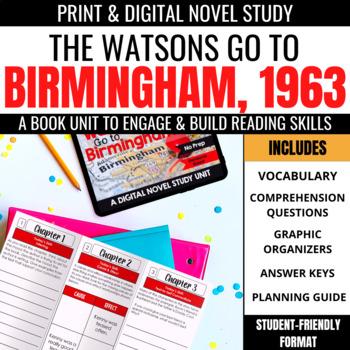 The Watsons Go to Birmingham - 1963 Foldable Novel Study Unit