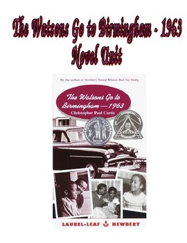 The Watsons Go to Birmingham 1963 - 70+ Page Novel Unit
