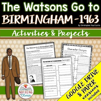 The Watsons Go to Birmingham-1963: Reading Response Activities and Projects