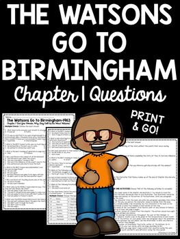 The Watsons Go to Birmingham- 1963 Chapter 1 Reading Compr