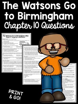 The Watsons Go to Birmingham- 1963 Chapter 10 Reading Comprehension Questions