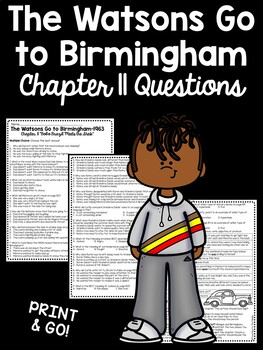 The Watsons Go to Birmingham- 1963 Chapter 11 Reading Comprehension Questions