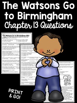 The Watsons Go to Birmingham- 1963 Chapter 13 Reading Comprehension Questions