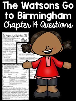 The Watsons Go to Birmingham- 1963 Chapter 14 Reading Comprehension Questions