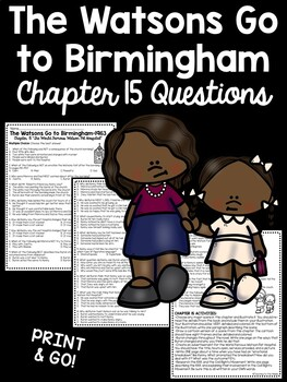 The Watsons Go to Birmingham- 1963 Chapter 15 Reading Comprehension Questions