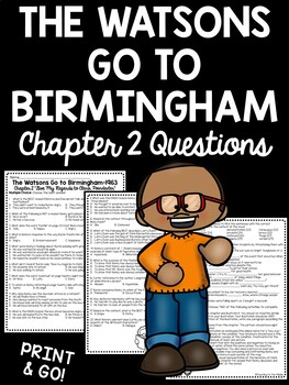 The Watsons Go to Birmingham- 1963 Chapter 2 Reading Comprehension Questions