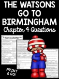 The Watsons Go to Birmingham - 1963 Chapter 4 Reading Comprehension Worksheet