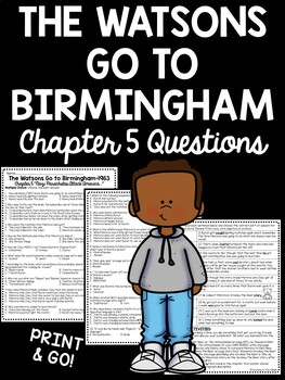 The Watsons Go to Birmingham- 1963 Chapter 5 Reading Comprehension Questions