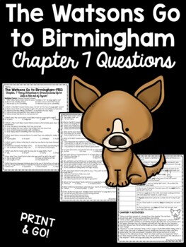 The Watsons Go to Birmingham- 1963 Chapter 7 Reading Comprehension Questions