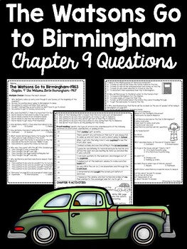 The Watsons Go to Birmingham- 1963 Chapter 9 Reading Comprehension Questions