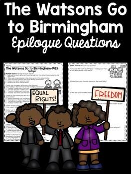 The Watsons Go to Birmingham- 1963 Epilogue Reading Compre