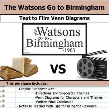 The Watsons Go to Birmingham - 1963 - Text to Film Venn Di