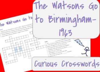 The Watsons Go to Birmingham- 1963 Worksheet