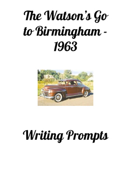 The Watsons Go to Birmingham - 1963 Writing Prompts