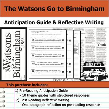 The Watsons Go to Birmingham - 1963 Unit Bundle