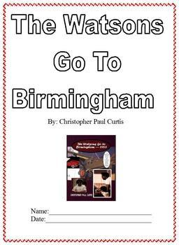 The Watsons Go to Birmingham; Boardmaker Modified Special Ed; Summary & Notes