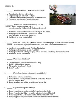 The Watsons Go to Birmingham - Complete set of 4 quizzes