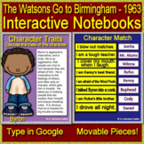 The Watsons Go to Birmingham Interactive Notebook Paperless for Google Classroom