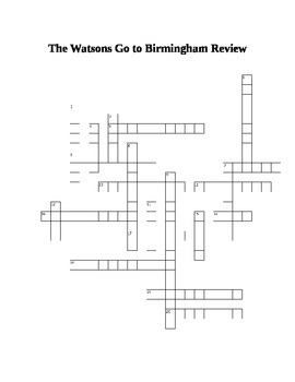 The Watsons Go to Birmingham Novel Review Puzzle