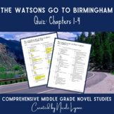 The Watsons Go to Birmingham Quiz Chapters 1-4