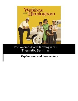 Socratic Seminar - The Watsons Go to Birmingham - Common Core Aligned
