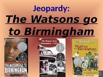 The Watsons go to Birmingham 1963 Jeopardy Game