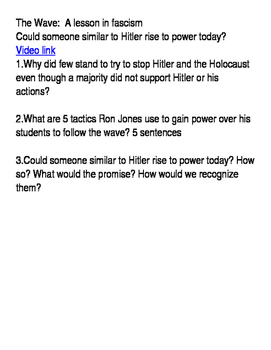 The Wave-How did Hitler come to power in a democracy?