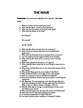 The Wave Movie Questions: Adolf Hitler, propaganda, and obedience