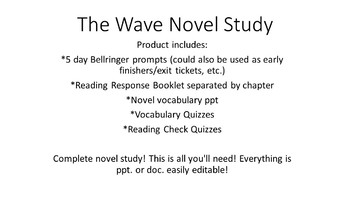 The Wave Novel Study