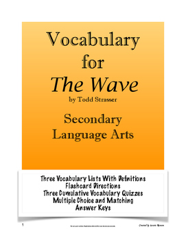 The Wave Vocabulary