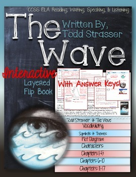 THE WAVE, BY TODD STRASSER NOVEL STUDY LITERATURE GUIDE FLIP BOOK