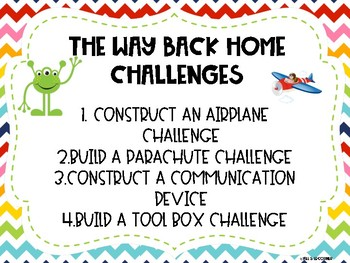 The Way Back Home- Picture book STEM Challenge! Set of 4