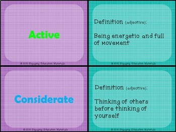 The Way I Act Differentiated Writing Activity