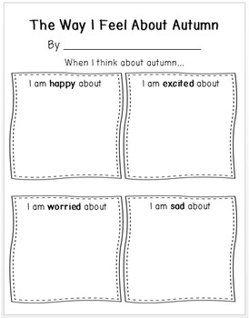 The Way I Feel About Seasons (Spring, Summer, Autumn, Winter) Writing Pages