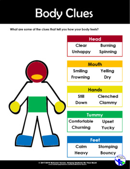 The Way I Feel - Feelings in Our Bodies - PreK-2 No Prep Lesson & Activities